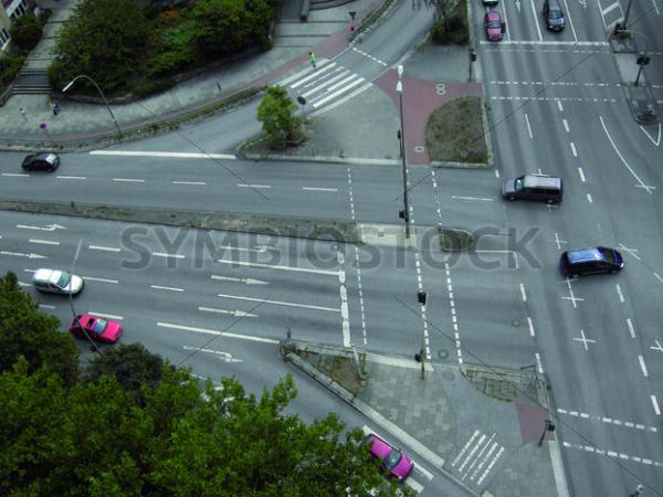 Blick auf Kreuzung Schloßstraße/Ring 2 - Fotos-Schmiede