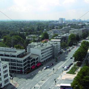 Blick auf Schloßstraße an Wandsbek Markt Richtung Westen - Fotos-Schmiede