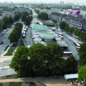 Blick auf Wandsbeck Markt Richtung Westen - Fotos-Schmiede