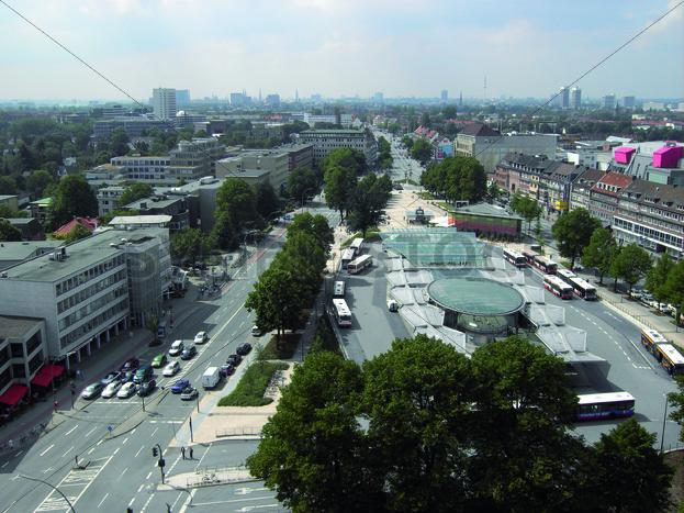Blick auf Wandsbek Markt Richtung Westen - Fotos-Schmiede