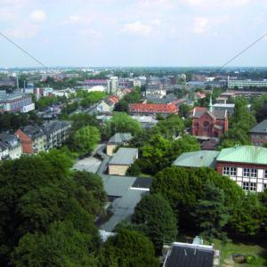 Blick von Wandsbek Markt Richtung Osten - Fotos-Schmiede