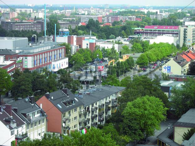 Blick von Wandsbek Markt nach Osten Richtung Rüterstraße - Fotos-Schmiede