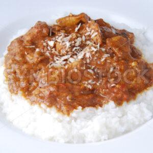 Chicken Tikka Masala mit Basmati-Reis Aufsicht - Fotos-Schmiede