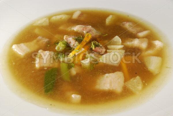 Gemüsesuppe mit Schweinebauch Aufsicht - Fotos-Schmiede