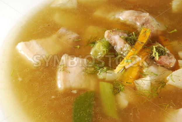 Gemüsesuppe mit Schweinebauch Detail - Fotos-Schmiede
