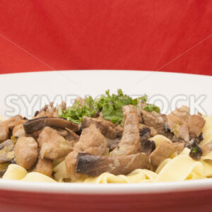Geschnetzeltes in Bier-Rahm-Sauce mit Pasta Frontal - Fotos-Schmiede
