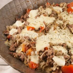 Hackfleisch-Sauerkraut-Tomaten-Pfanne Detail - Fotos-Schmiede