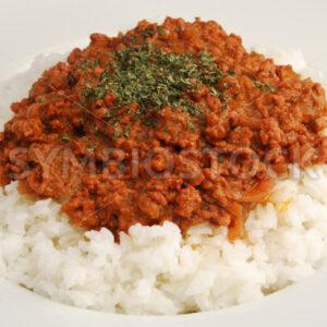 Hackfleisch auf Reis Aufsicht - Fotos-Schmiede