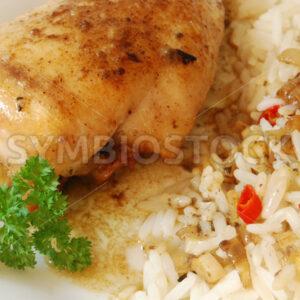 Hähnchenbrust in Zitronensauce Detail - Fotos-Schmiede