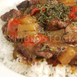 Lebertopf auf Reis Detail - Fotos-Schmiede