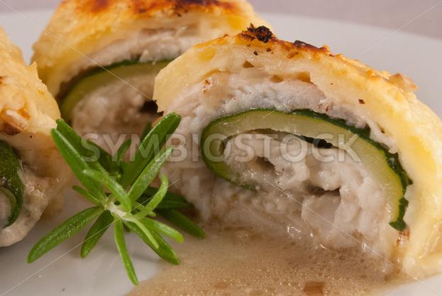 Pangasius-Zucchini-Rollen Detail - Fotos-Schmiede