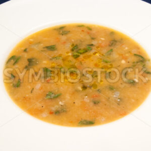 Tomaten-Brot-Suppe Aufsicht - Fotos-Schmiede