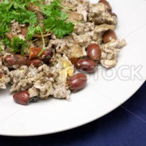 Eier mit Oliven und Tomaten Detail - Fotos-Schmiede